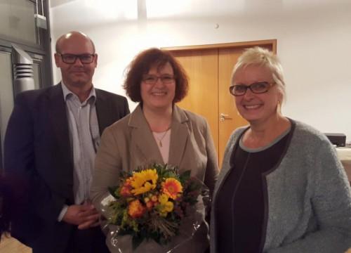 Anette Haug mit Dorothea Schäfer und Patrick Rössler